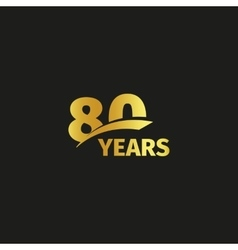 Isolated abstract golden 80th anniversary logo vector