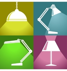 Lamp icon Eps10 vector