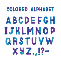 latin typeface or creative english alphabet made vector image