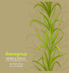 Lemongrass background vector