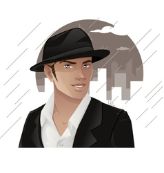 Man Wearing Hat vector