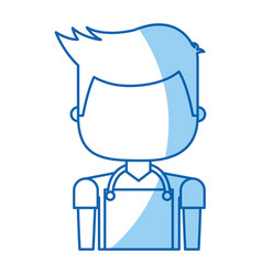 Man with apron avatar vector