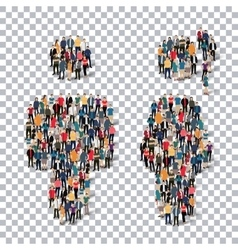 Man woman people sign 3d vector image