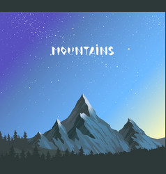 Mountains amazing vector