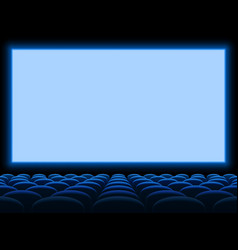 Movie cinema screen background template with vector