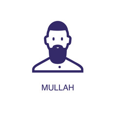 Mullah element in flat simple style on white vector