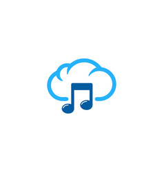 music weather and season logo icon design vector image