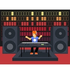 Musician Synthesizer Modern Music Player Concept vector image