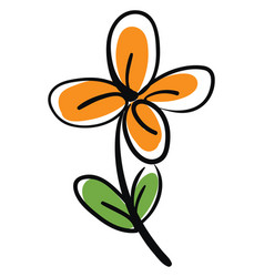 orange flower on white background vector image