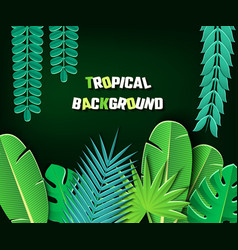 paper cut tropical2-01 vector image