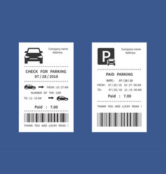 parking ticket money penalty receipt vector image