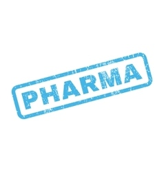 Pharma Rubber Stamp vector
