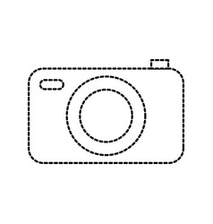photo camera flash button app digital vector image