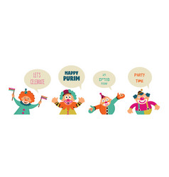 Purim banner template design jewish holiday vector