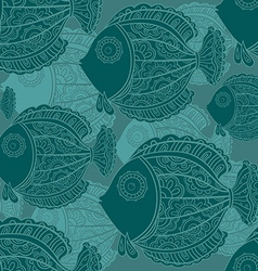 seamless pattern of a lot of beautiful decorative vector image