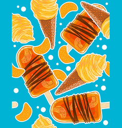 seamless sweet pattern with icecream cones vector image