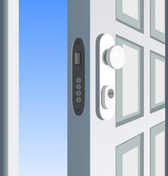 single white door open vector image vector image