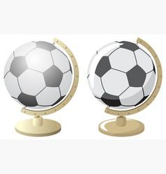 soccer world vector image