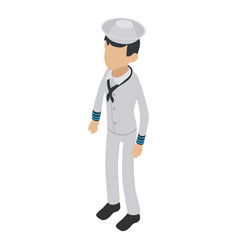 soldier sailor icon isometric 3d style vector image