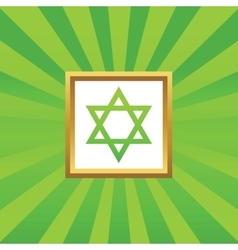 Star of David picture icon vector image