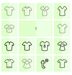 t icons vector image