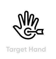 target hand icon editable line vector image