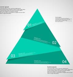 Triangle randomly cut to four parts on light vector