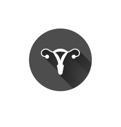 uterus outline icon vector image
