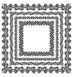 Vintage frame design set vector