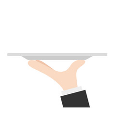 waiter tray with hand stock vector image