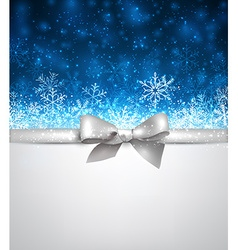 Winter blue christmas background vector image