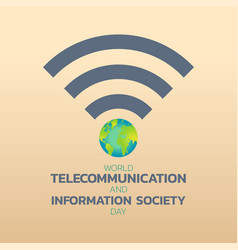 World telecommunication day logo icon design vector