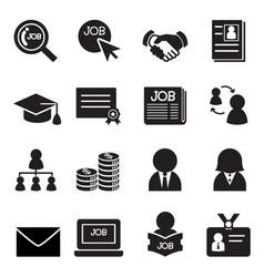 job icon set vector image