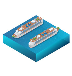 luxury cruise ship a modern liner is in an ocean vector image