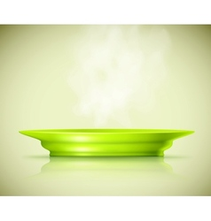 Plate with a hot dish vector image vector image