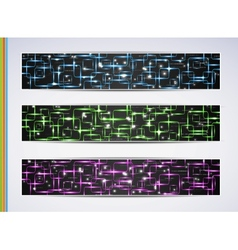 Set of abstract technology web banner vector image