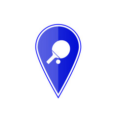 blue map pointer with table tennis vector image
