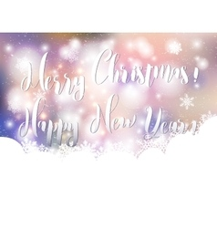 Christmas Greeting Card Merry Christmas New Year vector image vector image