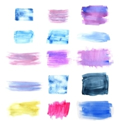 Designed abstract watercolor background vector image vector image