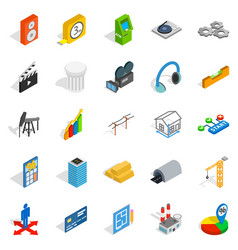 Shooting icons set isometric style vector