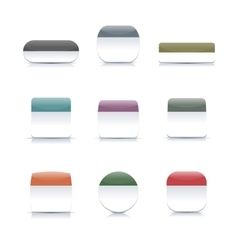 Two-color buttons vector image