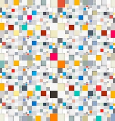 Abstract Squares Seamless Background vector image