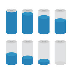 battery icon set isolated on white vector image