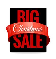 big christmas sale black label vector image