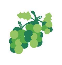 christmas grape icon green design vector image