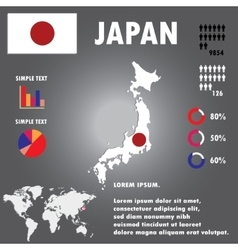 Japan Map Infographics vector image vector image