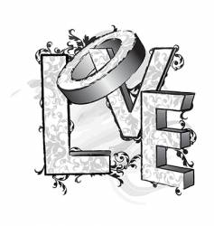 love letters vector image