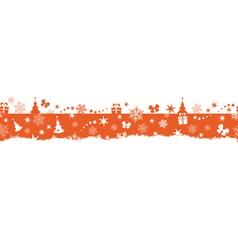 Seamless winter Christmas border vector image vector image