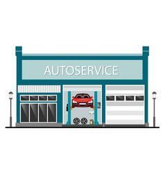 auto service center vector image vector image