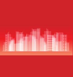 city landscape eps10 vector image vector image